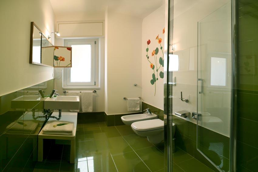 Bagno marrone e verde betz set di guanti da bagno premium colore