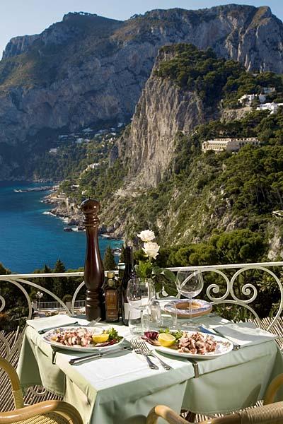 Villa Brunella Restaurant Capri